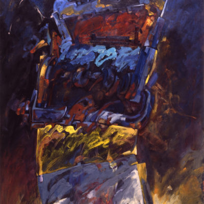 Faez the victorious | Acrylic and Oil painting on paper | Collection Jean-Pierre Guillemont | 1987