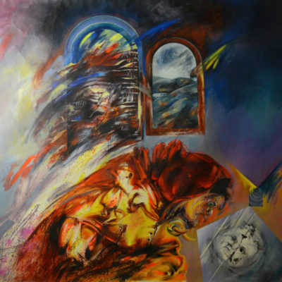 Scream. Oil painting on canvas. 148x173 cm. Private collection. 1984