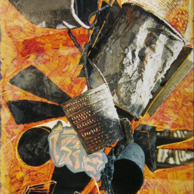 Rocket 2, 75x50 cm, Intervention on photography 2003