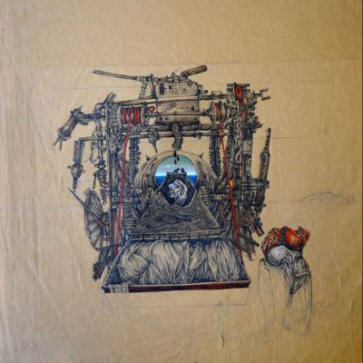 Ciment machine 60x48 cm | Ink and water color, 1977